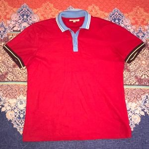 Red Burberry Polo 🤡🔥